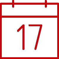 Line art image of a calendar