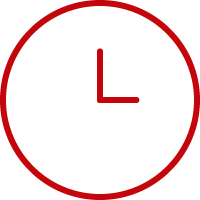 Line art image of a clock