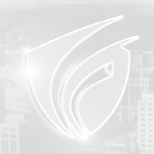 Cybersecurity Forward Motion Shield in grayscale