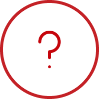 Line art image of a circle with a question mark in it